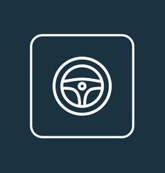 steering wheel outline symbol premium quality vector image vector image