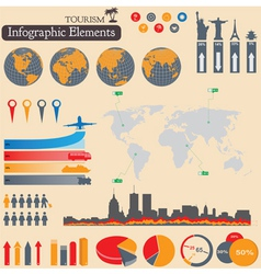 Tourism infographics vector