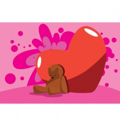 valentine bear vector image vector image