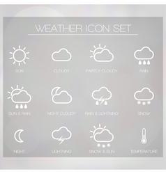 Weather Widget copy vector image vector image