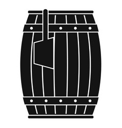 Wooden barrel with ladle icon simple vector