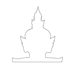 Thai giant path on the white background vector