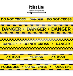 Yellow with black police line do not cross vector