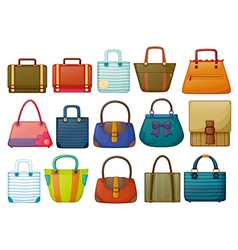 Different bag designs vector