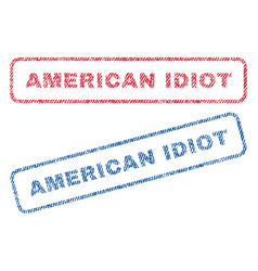 American idiot textile stamps vector