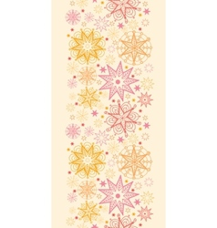 Warm stars vertical seamless pattern background vector