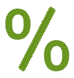 A four leaf clove of percentage sign vector