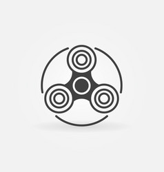 Fidget spinner simple icon vector