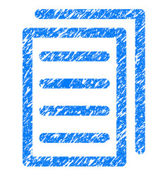 Copy document grunge icon vector