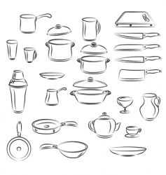 Kitchen utensil vector