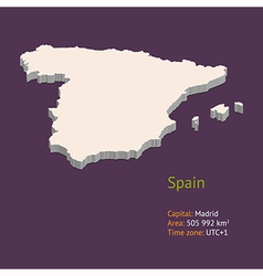 3d map of Spain vector image