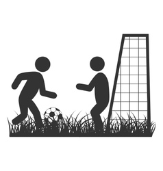 Flat football icon isolated on white vector