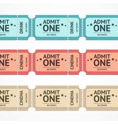 Color tickets set line vector