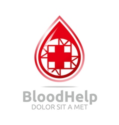 Logo blood help medical donors healthy symbol vector