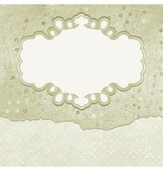Vintage elegant card vector image