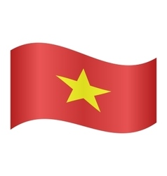 Flag of vietnam waving vector