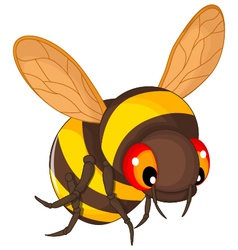 Bee cartoon flying vector
