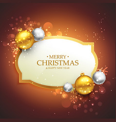 beautiful merry christmas background with golden vector image vector image
