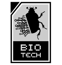 Bio beetle tech vector