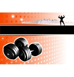bodybuilding poster vector image vector image