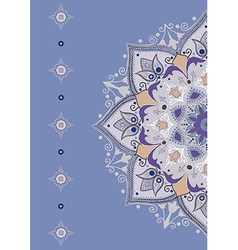 card with mandalas vector image vector image