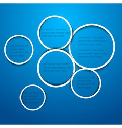 circles for web design vector image