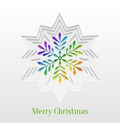 Creative Christmas Snowflake Greeting Card vector image