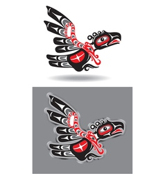eagle in native american style vector image vector image