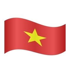 Flag of vietnam waving vector