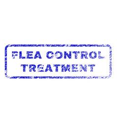 Flea control treatment rubber stamp vector