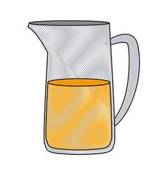 fresh juice in jar glass beverage camping vector image