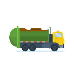 garbage truck waste collection and transportation vector image vector image