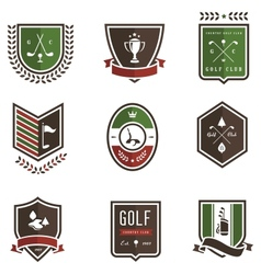 Golf Emblems vector image vector image