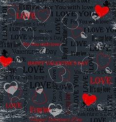 Gray background to the day of lovers in vintage st vector