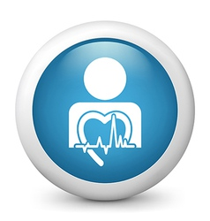 Heart Health Glossy Icon vector image vector image