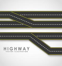 highway road vector image vector image
