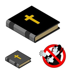 Holy bible against vampires ban dracula anti vector