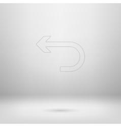 Icon in light studio room vector image vector image