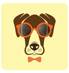 Image of dog wearing glasses vector