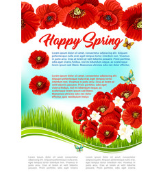 Poster for happy spring holiday greetings vector