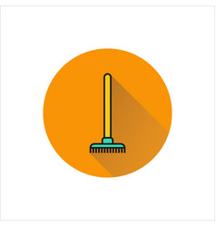 rake icon icon on white background vector image vector image