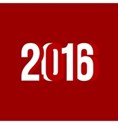 red and white number of 2016 vector image vector image