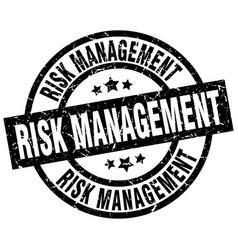 Risk management round grunge black stamp vector