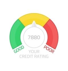 Round credit score gauge vector image