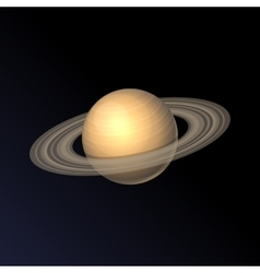 Saturn planet icon isolated on dark background vector