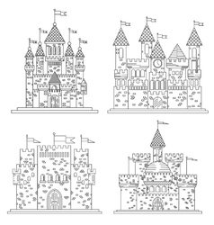 Sketch for medieval castles and fortress vector image vector image