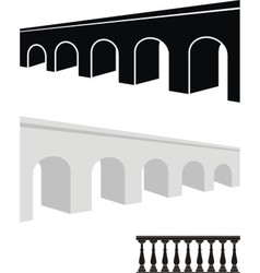 Stone bridge and balustrade vector