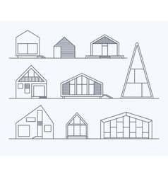 Tiny houses linear 1 vector
