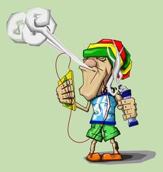 Vaper reggae vector