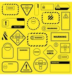 warning vector image vector image
